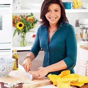 Rachel Cutting Garlic
