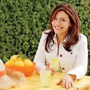 Rachel Outside with Lemonade