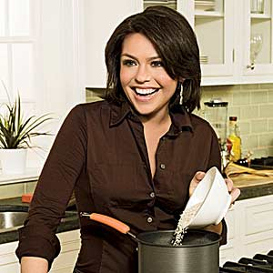 Rachel Pouring in Pan