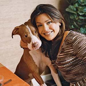 Rachel with her dog