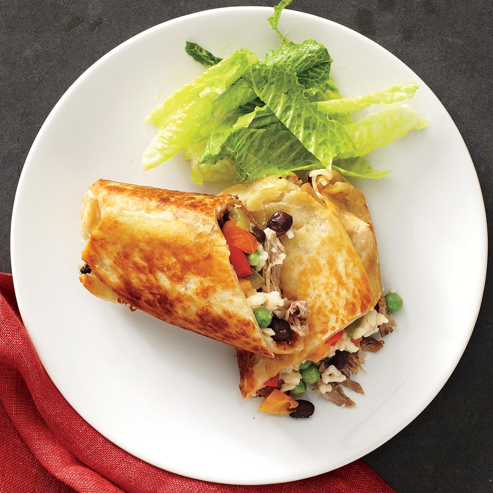 Roast Pork-and-Veggie Burritos