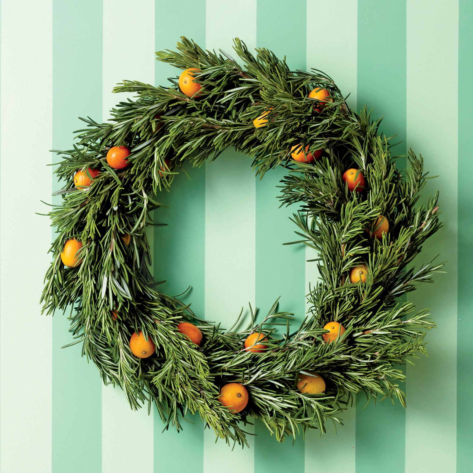 rosemary and kumquat wreath
