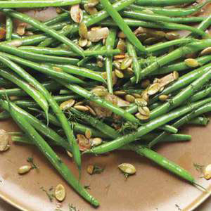 Sauteed Green Beans with Toasted Pumpkin Seeds