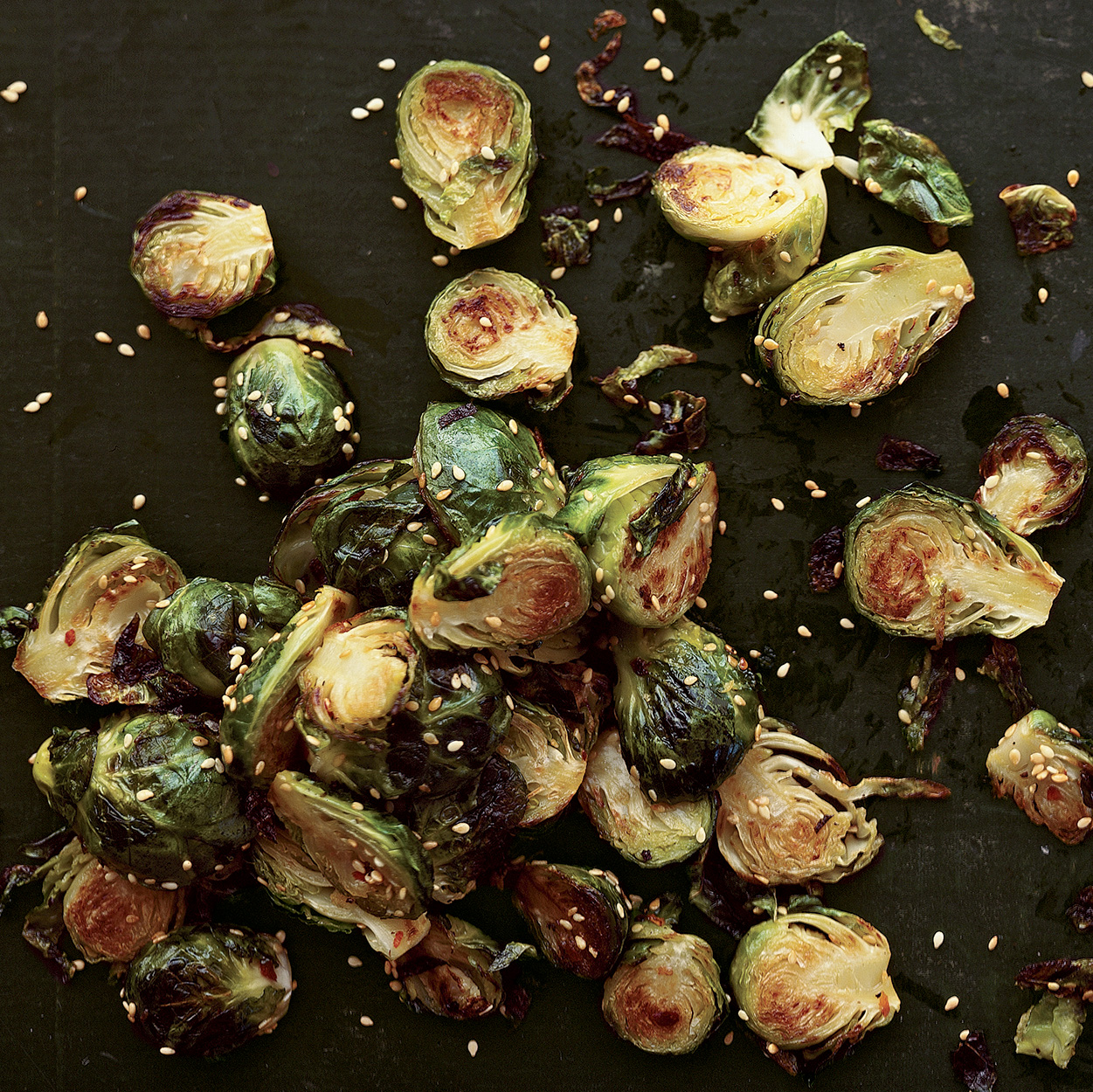 Crispy Sesame-Crusted Brussels Sprouts