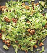 Shredded Brussels Sprouts Walnuts