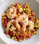 shrimp on corn