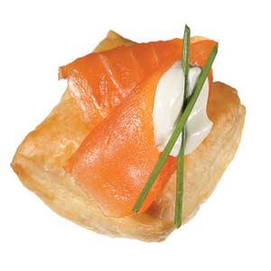 smoked salmon puffs