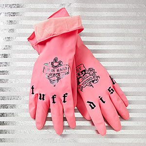 Spoon Sisters tattooed rubber gloves
