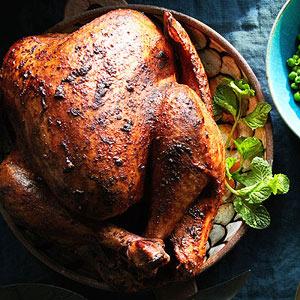 Tandoori-Spiced Turkey with Cracked Pepper Gravy