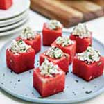 Watermelon Cups with Feta Mint