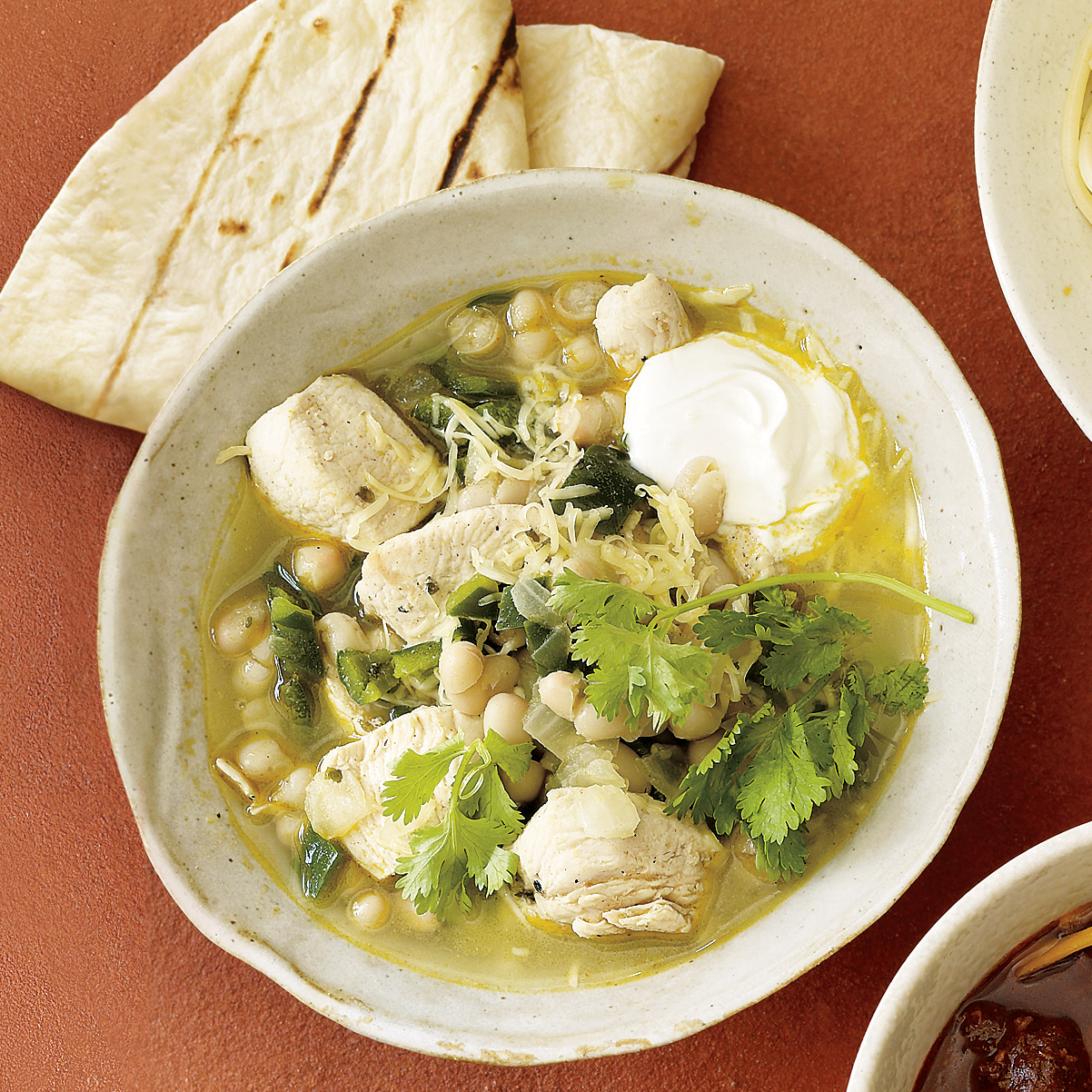 White Bean, Chicken and Poblano Chili