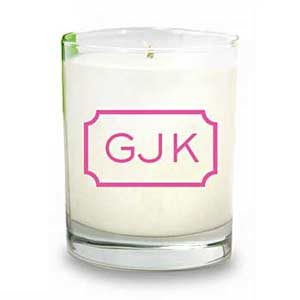 White Candle with GJK