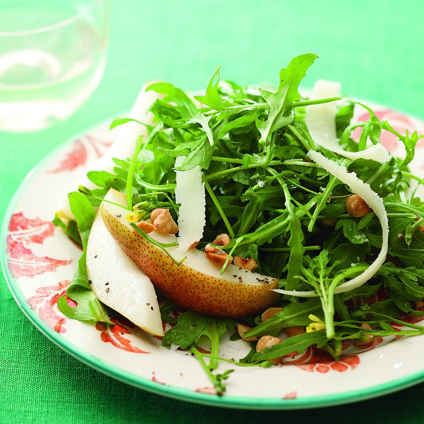 Wild Arugula Salad with Pears