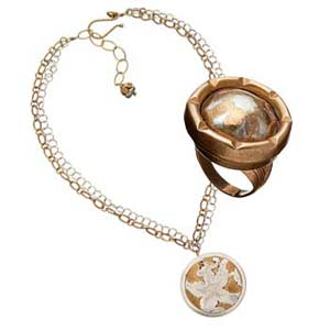 fused dome ring and necklace