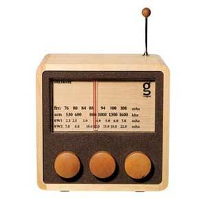 wooden radio