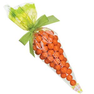 Godiva Chocolates in a Carrot Shaped Bag