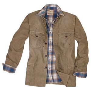 Plaid Shirt and Western Corduroy Jacket