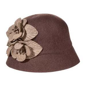 floral wool hat