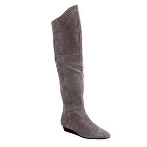 Turbo grey suede boots