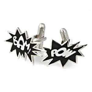 Bam Pow Superhero cuff links