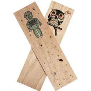 Fun Harvested Wood Book Marks