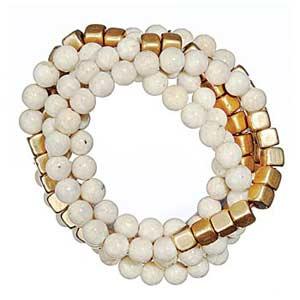 riverstone gold cubed bracelet