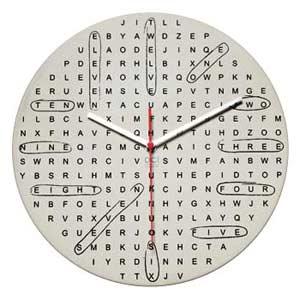 Fun Word Search Clock