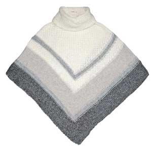 gray knit poncho