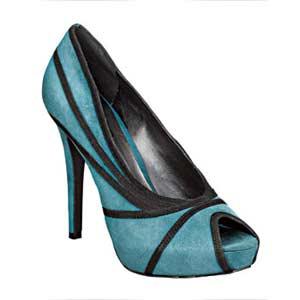 blue peep toe heels