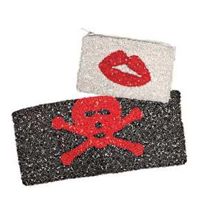 lip sequin coin purse