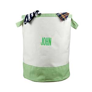 White Bag with Green Trim