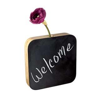 Welcome vase