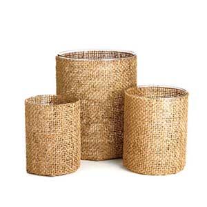 Burlap Baskets