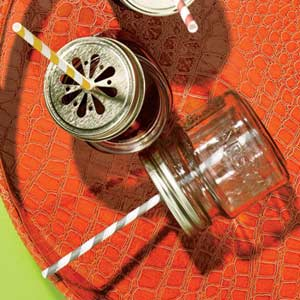 Glass Jars with Straws