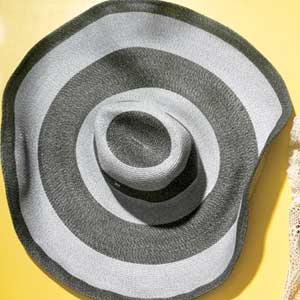 Gray Striped Hat