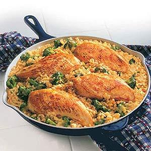 15-Minute Chicken & Rice Dinner