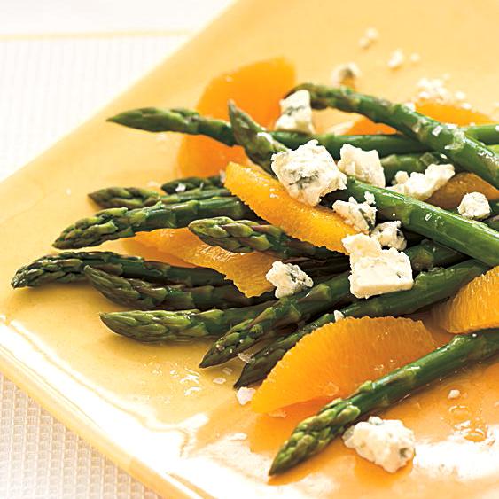 Asparagus, Orange and Blue Cheese Salad