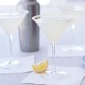 Basil-Lemon Gimlets
