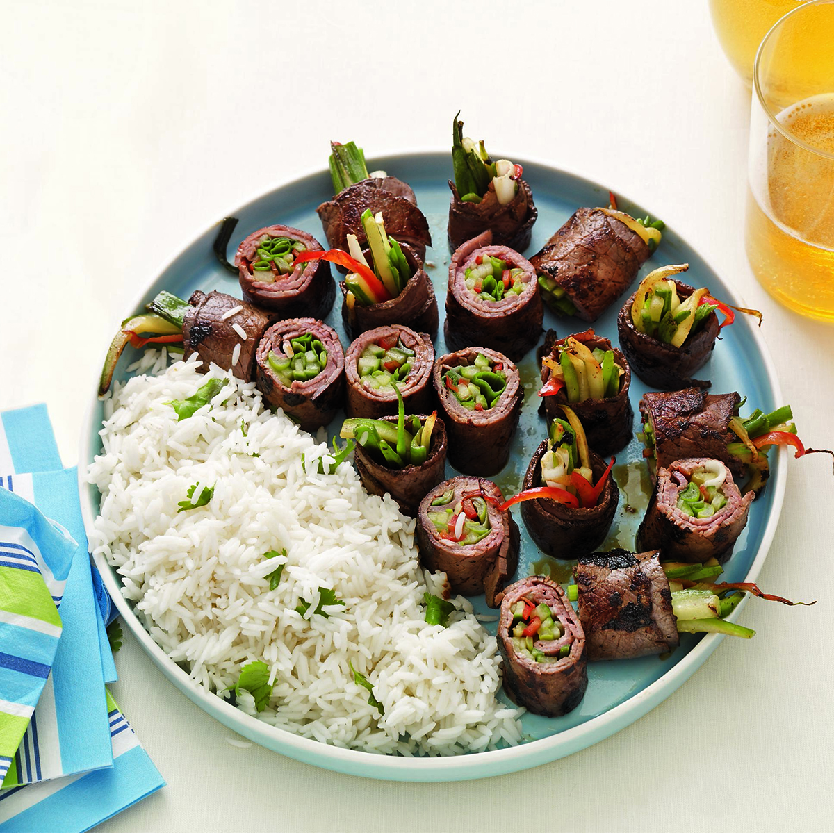 beef and scallion roll up