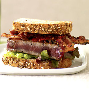 BLTT (Bacon, Lettuce, Tomato Jam and Tuna Steak) Sandwiches