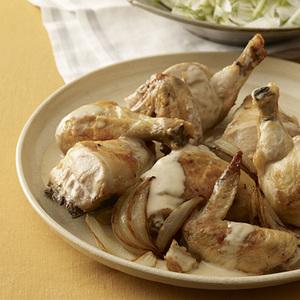 Brandy Chicken with Fennel Salad
