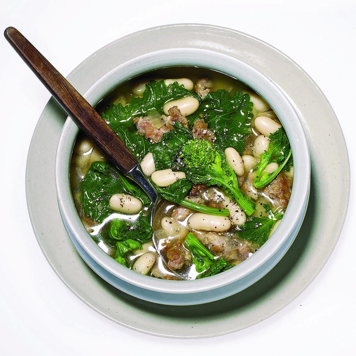 Broccoli Rabe-and-Sausage Soup