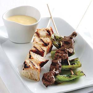 Cheesesteak Kebabs