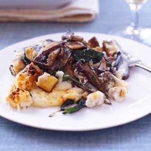 Cheesy Triple-Mushroom and Bread Gnocchi Bake