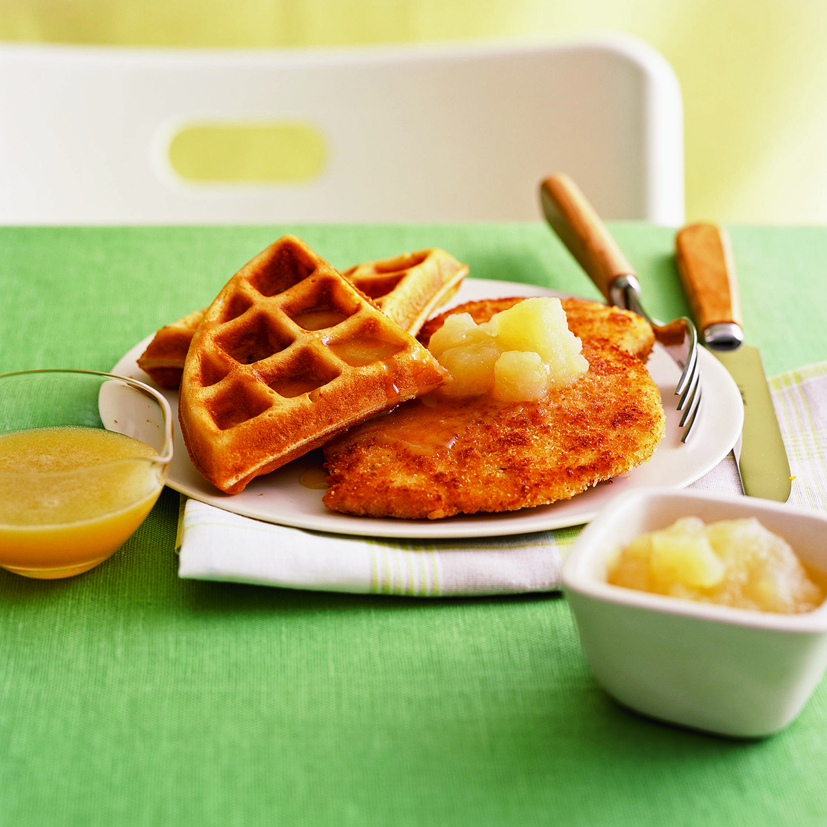 chicken and honey buttered waffles