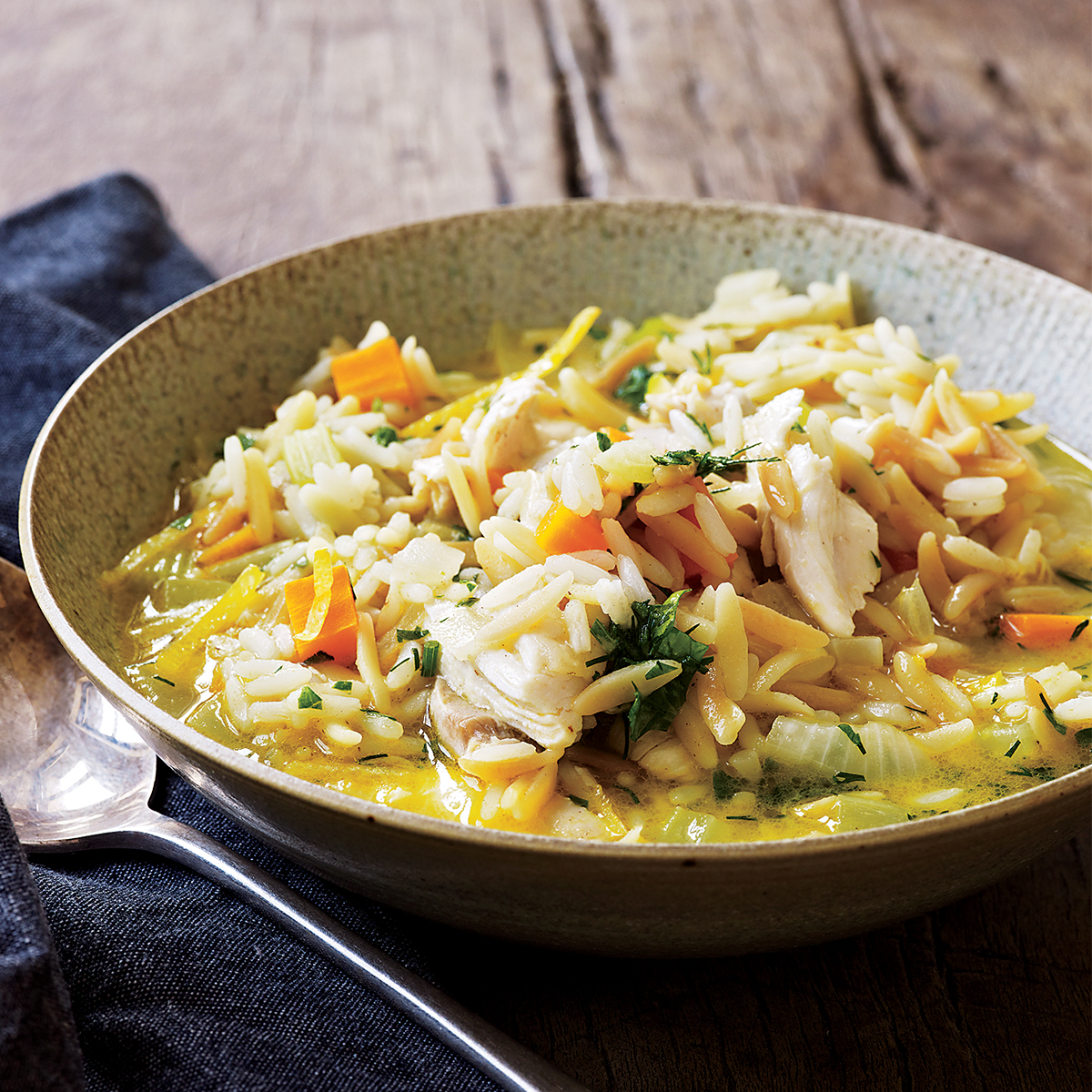 chicken and rice stoup