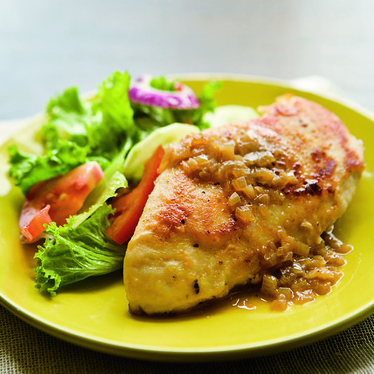 Chicken Breasts with Pan Gravy