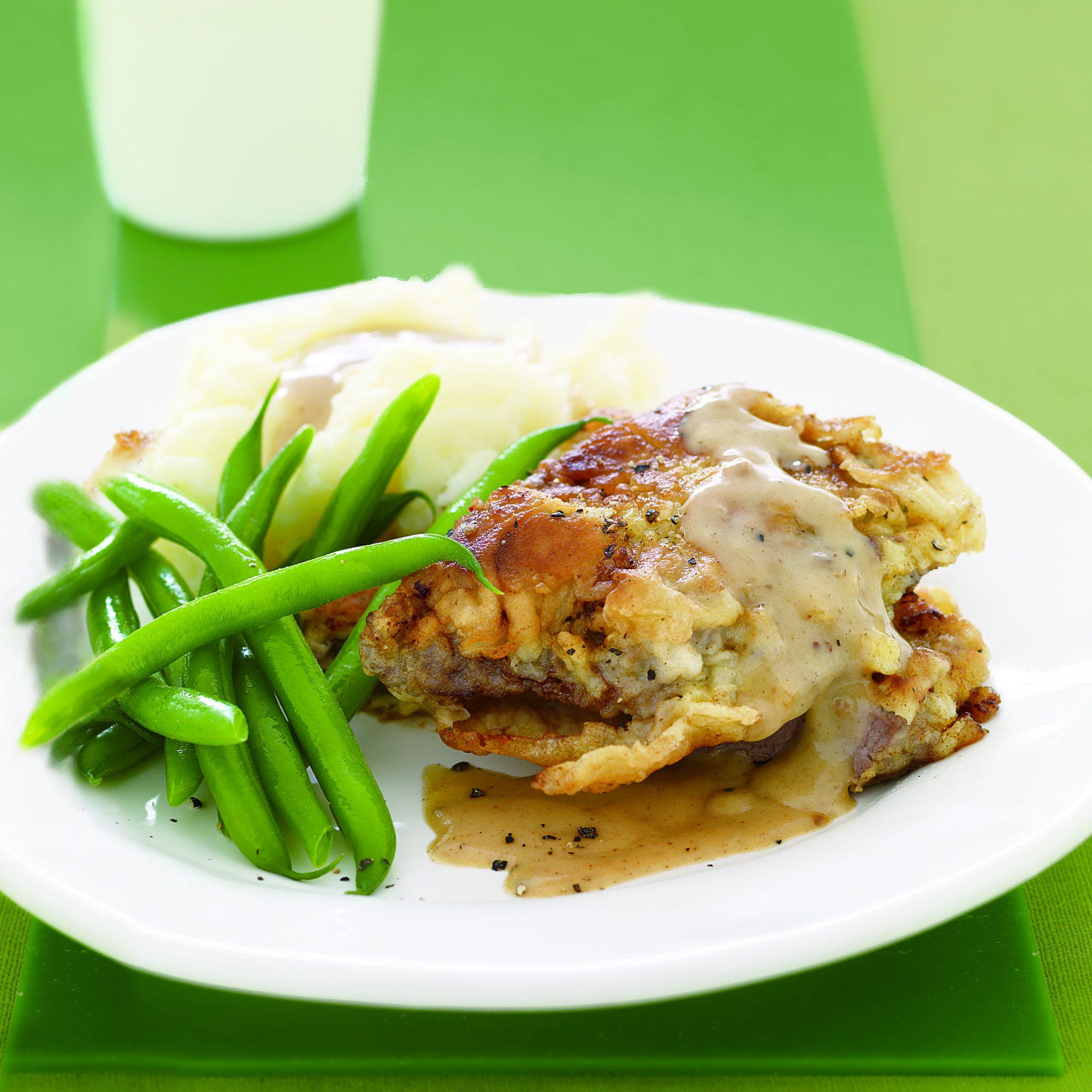 Chicken-Fried Steak with Gravy