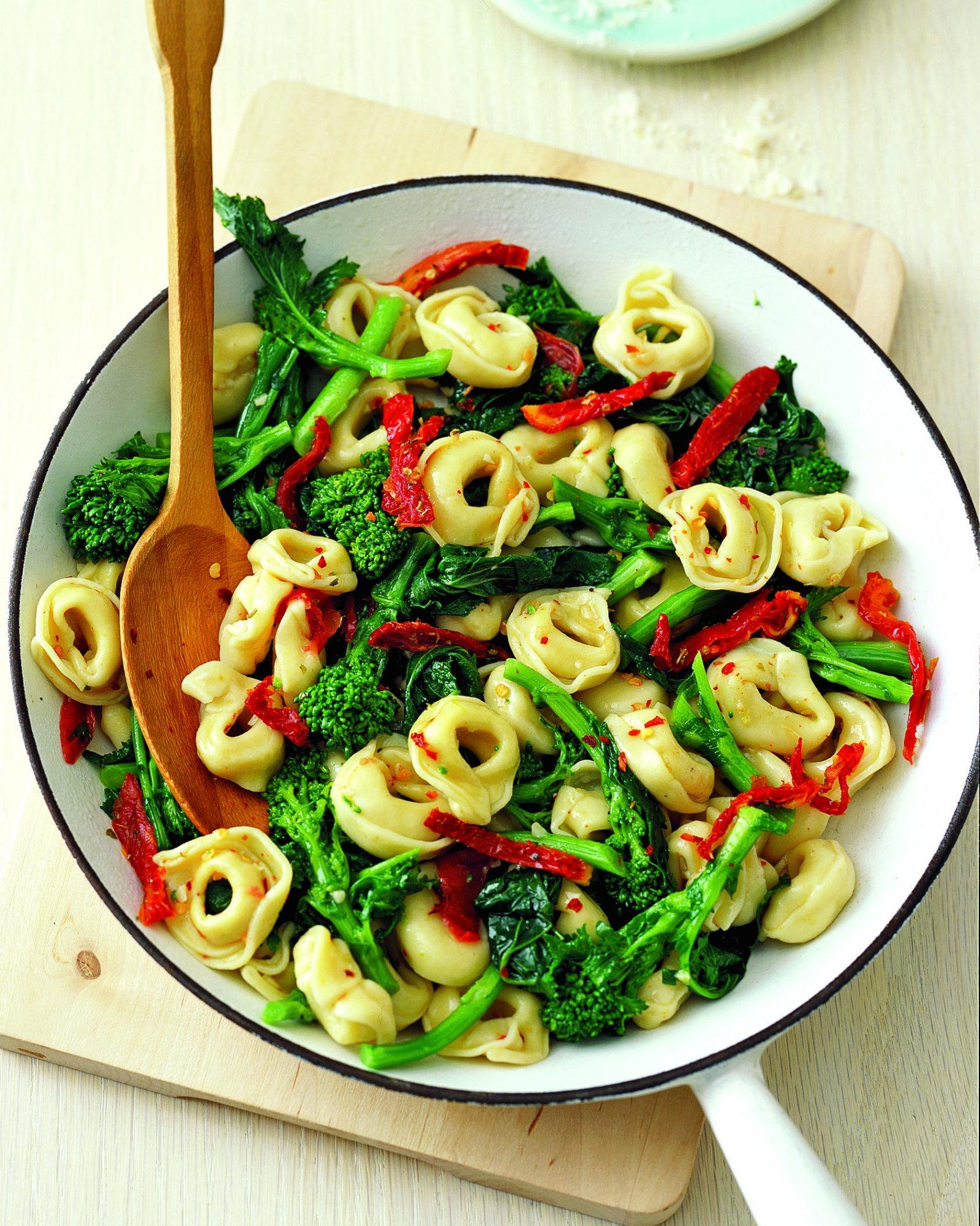 Chicken Tortellini with Broccoli Rabe