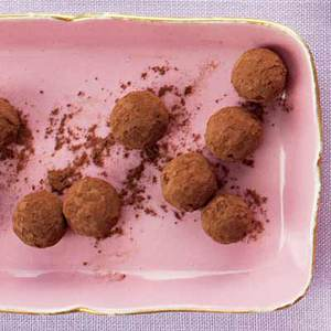Chocolate-Jasmine Tea Truffles